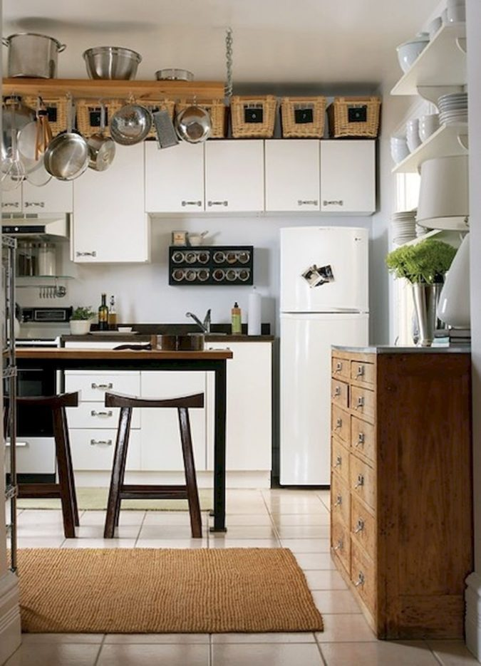 Maximizing-cabinet-top-4-675x935 100+ Smartest Storage Ideas for Small Kitchens in 2021
