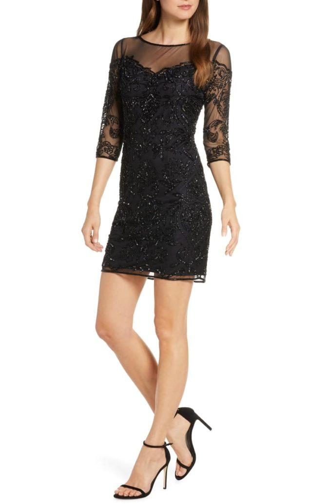 Mesh-sheath-dress-675x1035 120 Splendid Women's Outfits for Evening Weddings