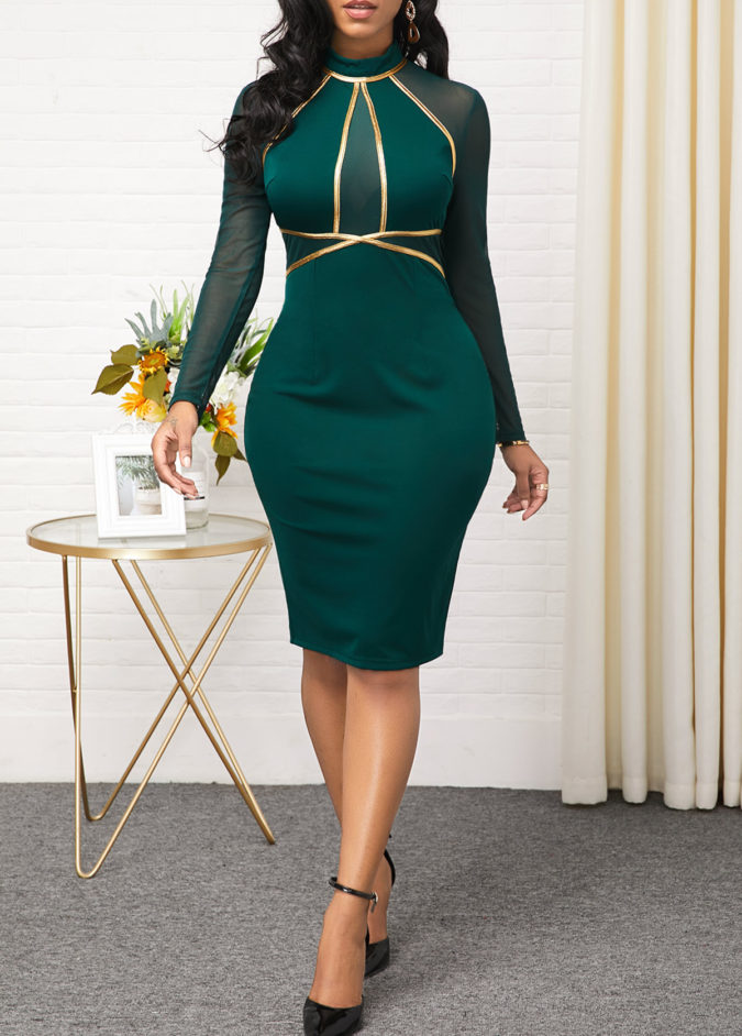 Mesh-sheath-dress.-675x942 120 Splendid Women's Outfits for Evening Weddings