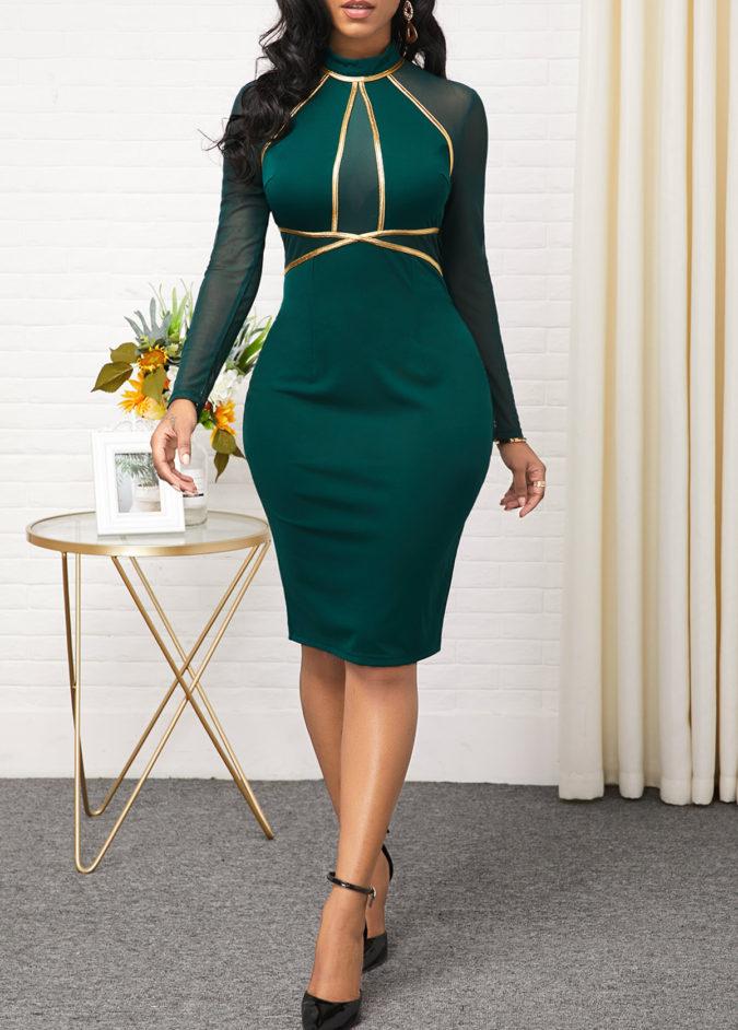 Mesh-sheath-dress.-675x942 120 Splendid Women's Outfits for Evening Weddings
