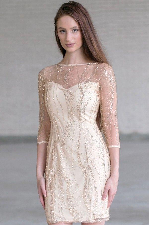 Mesh-sheath-dress.. 120 Splendid Women's Outfits for Evening Weddings