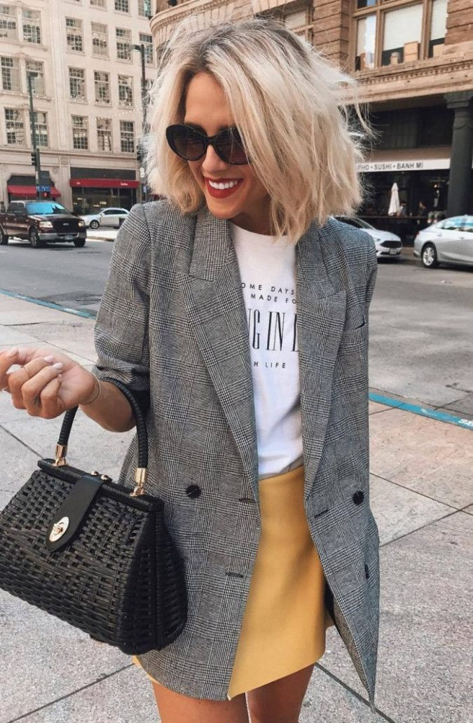 Mini-skirt-and-casual-jacket.-675x1032 140 First-Date Outfit Ideas That Make You Special