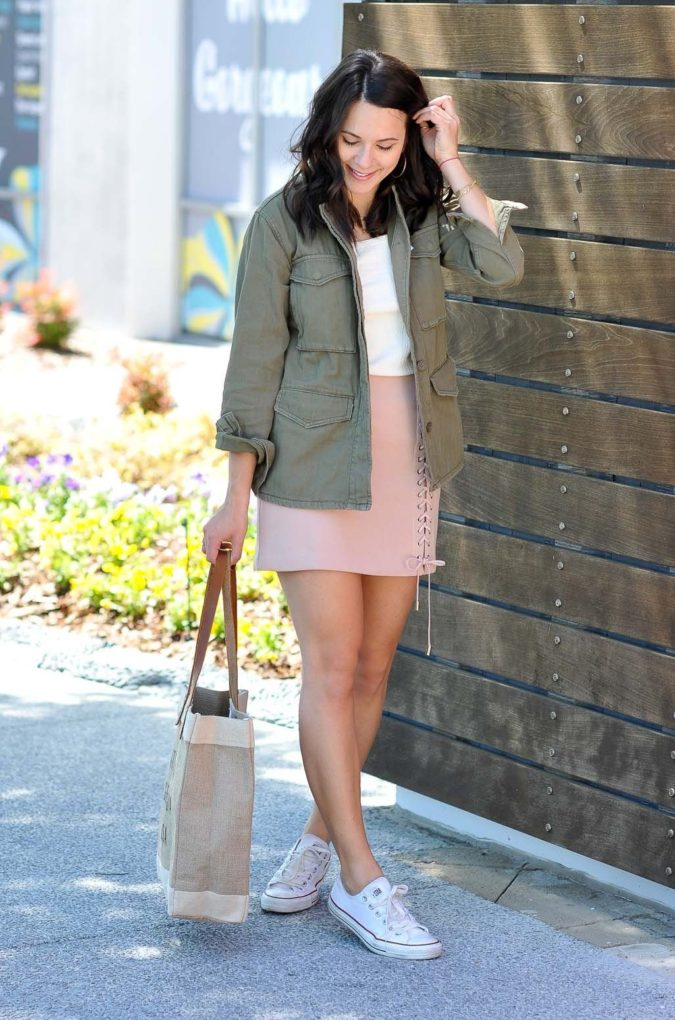 Mini-skirt-and-casual-jacket..-1-675x1020 140 First-Date Outfit Ideas That Make You Special