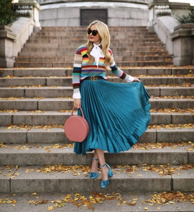 Multicolor-sweater-675x739 140+ Lovely Women's Outfit Ideas for Winter in 2021