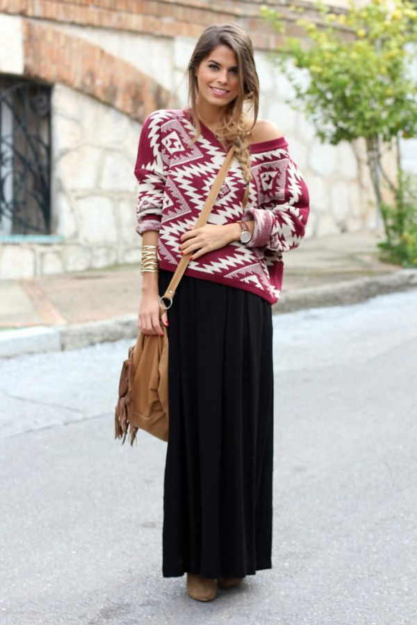 Multicolor-sweater.-1 140+ Lovely Women's Outfit Ideas for Winter in 2021