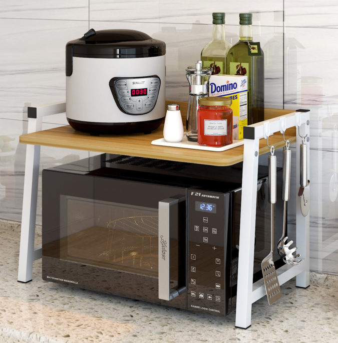 Multipurpose-shelf-2-675x684 100+ Smartest Storage Ideas for Small Kitchens in 2021