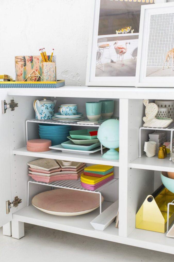 Multipurpose-shelf-675x1013 100+ Smartest Storage Ideas for Small Kitchens in 2021
