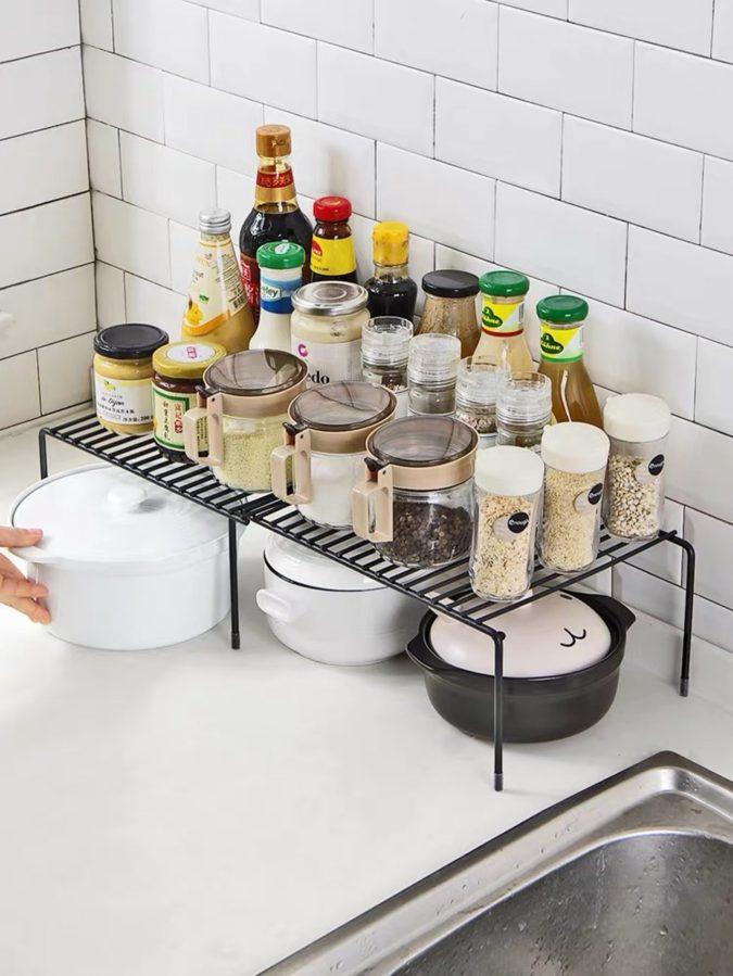 Multipurpose-shelf.-1-675x899 100+ Smartest Storage Ideas for Small Kitchens in 2021