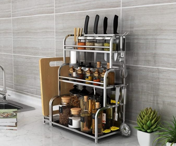 Multipurpose-shelf.-675x560 100+ Smartest Storage Ideas for Small Kitchens in 2021