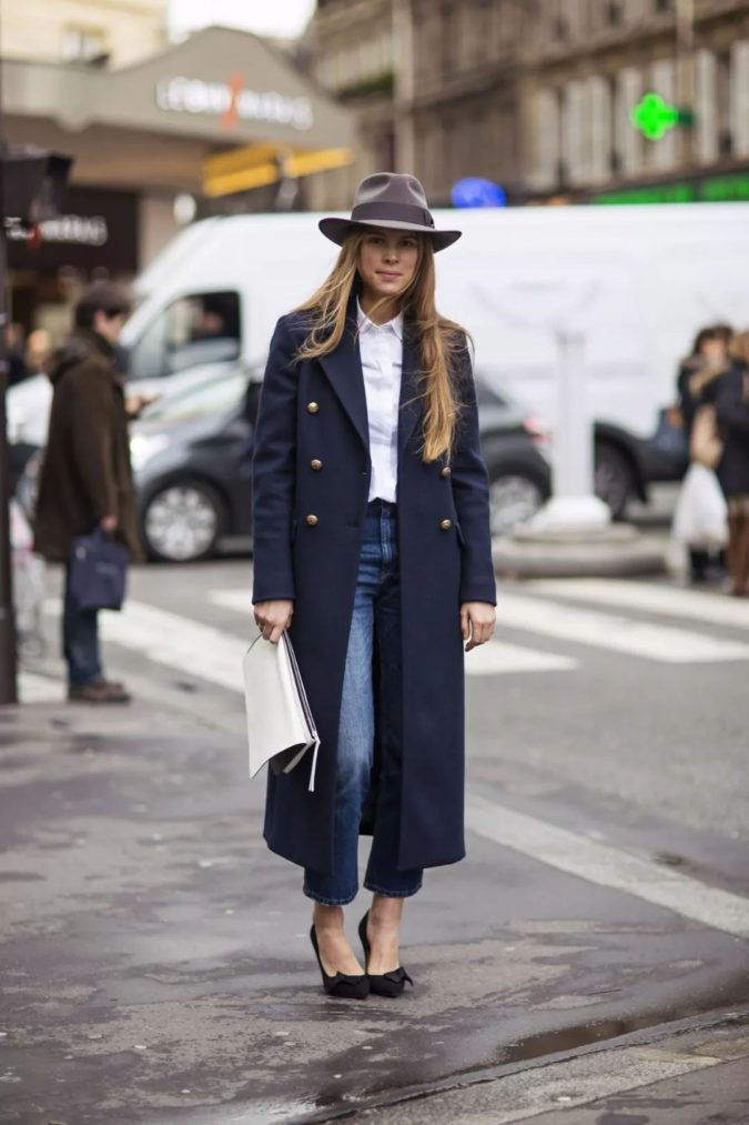 Navy-overcoat-675x1013 140+ Lovely Women's Outfit Ideas for Winter 2020 / 2021