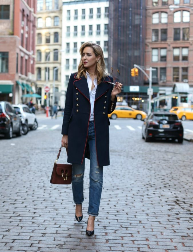 Navy-overcoats.-1-675x880 140+ Lovely Women's Outfit Ideas for Winter 2020 / 2021