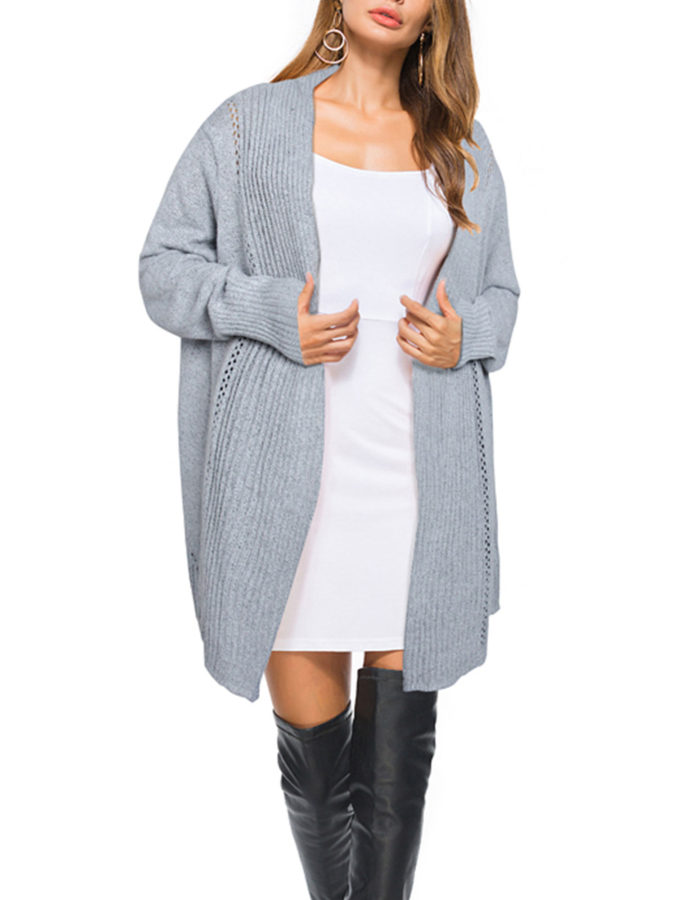 Open-Front-Knit-Sweater-675x900 140+ Lovely Women's Outfit Ideas for Winter 2020 / 2021