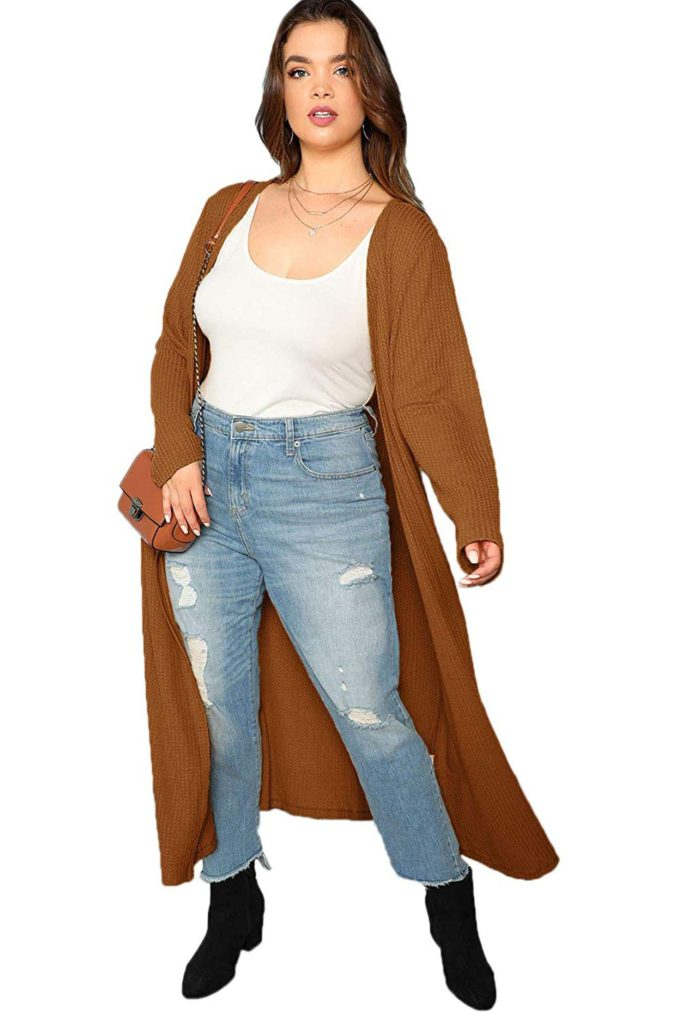 Open-Front-Knit-Sweater.-675x1013 140+ Lovely Women's Outfit Ideas for Winter 2020 / 2021