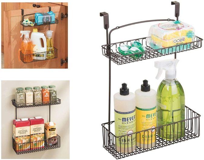 Over-cabinet-storage-organizer-1-675x531 100+ Smartest Storage Ideas for Small Kitchens in 2021