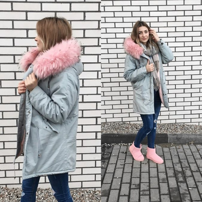 Parka-jacket-and-a-scarf-..-675x675 140+ Lovely Women's Outfit Ideas for Winter 2020 / 2021