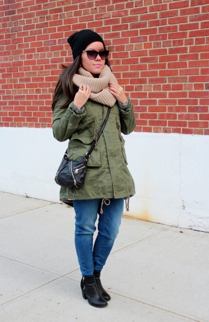 Parka-jacket-and-a-scarf-675x1038 140+ Lovely Women's Outfit Ideas for Winter 2020 / 2021