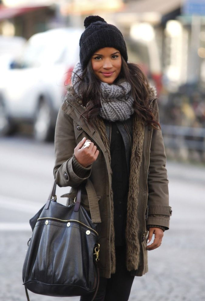 Parka-jacket-and-a-scarf.-1-675x992 140+ Lovely Women's Outfit Ideas for Winter 2020 / 2021