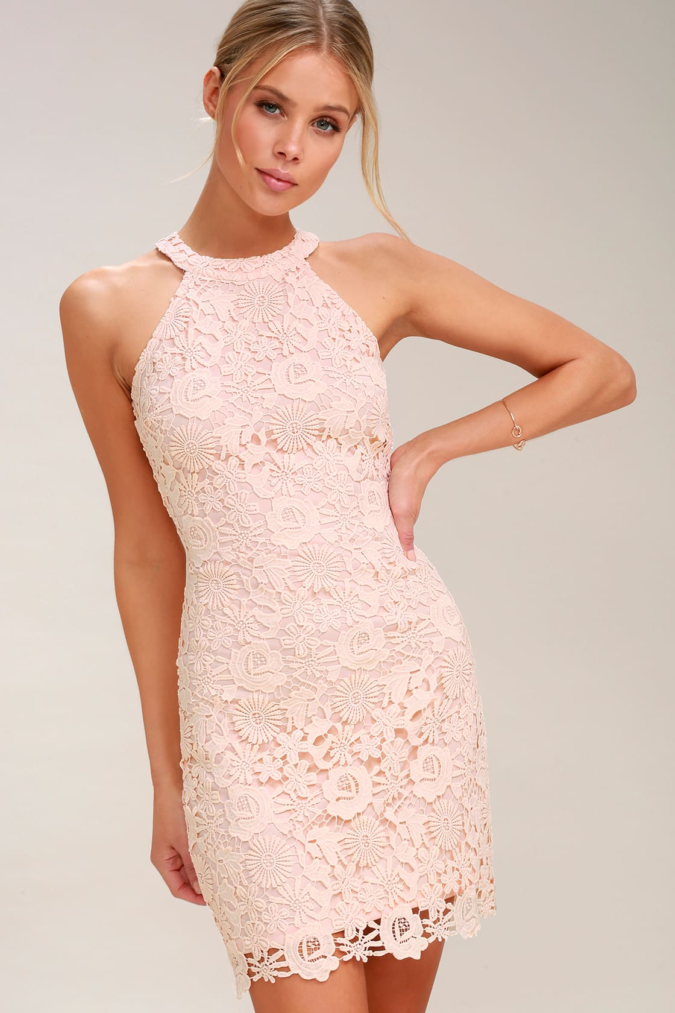 Pink-lace-dress-675x1013 120 Splendid Women's Outfits for Evening Weddings