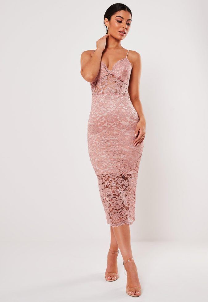 Pink-lace-dress-675x978 120 Splendid Women's Outfits for Evening Weddings