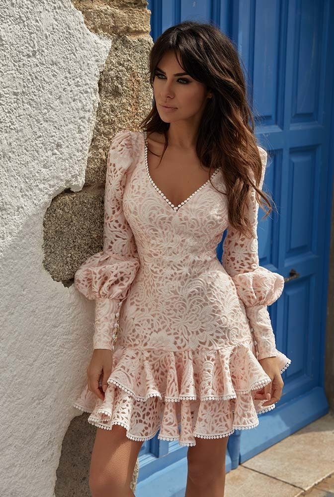 Pink-lace-dress.-1 120 Splendid Women's Outfits for Evening Weddings