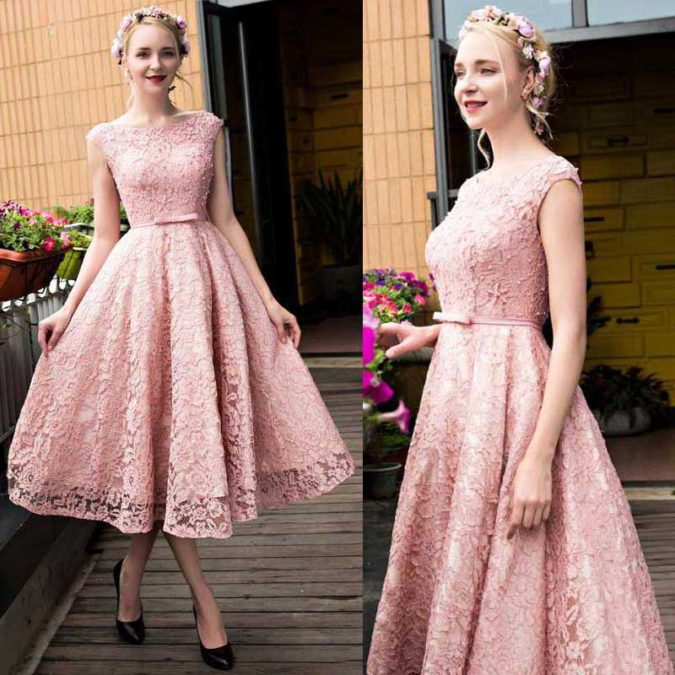 Pink-lace-dress.-2-675x675 120 Splendid Women's Outfits for Evening Weddings