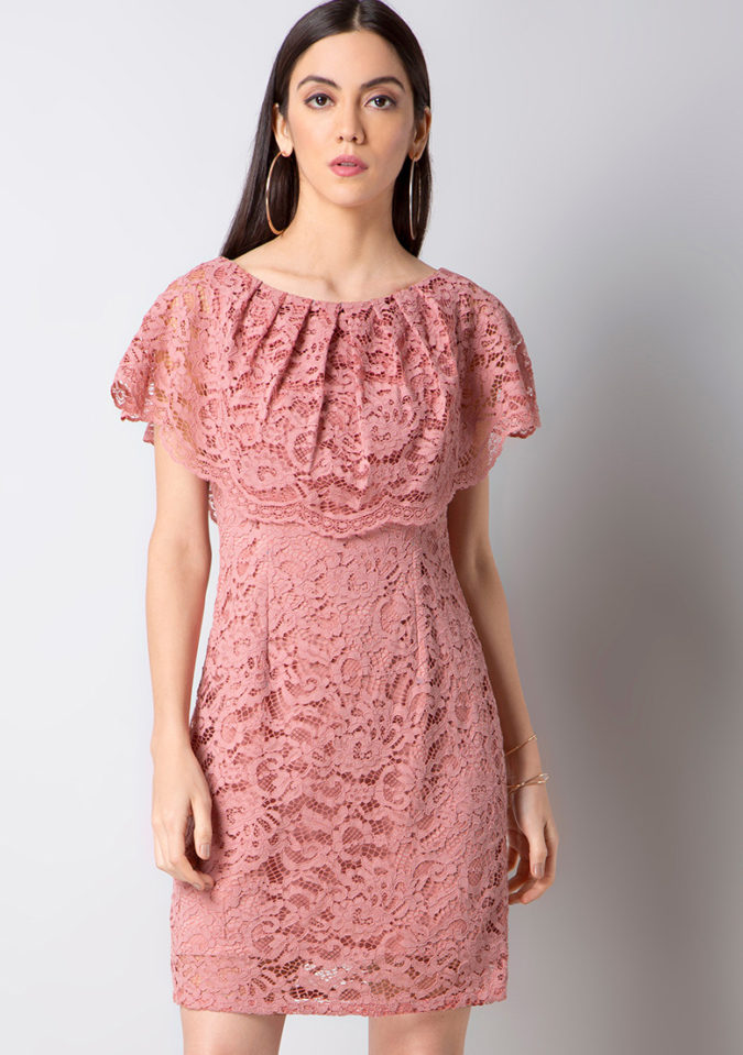 Pink-lace-dress.-675x959 120 Splendid Women's Outfits for Evening Weddings