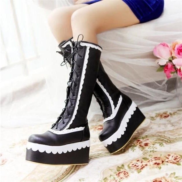 Platform-Boots-2 140+ Lovely Women's Outfit Ideas for Winter 2020 / 2021