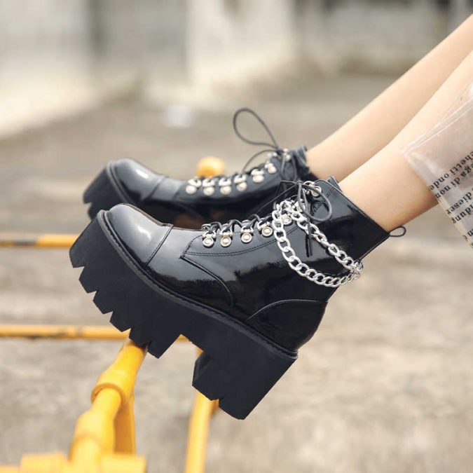 Platform-Boots..-675x675 140+ Lovely Women's Outfit Ideas for Winter in 2021