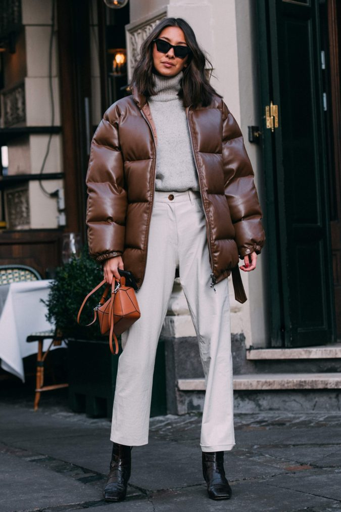 Puffer-Coat-675x1013 140+ Lovely Women's Outfit Ideas for Winter in 2021