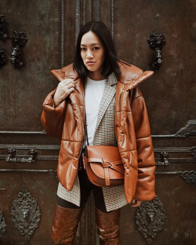 Puffer-Coat-675x844 140+ Lovely Women's Outfit Ideas for Winter 2020 / 2021