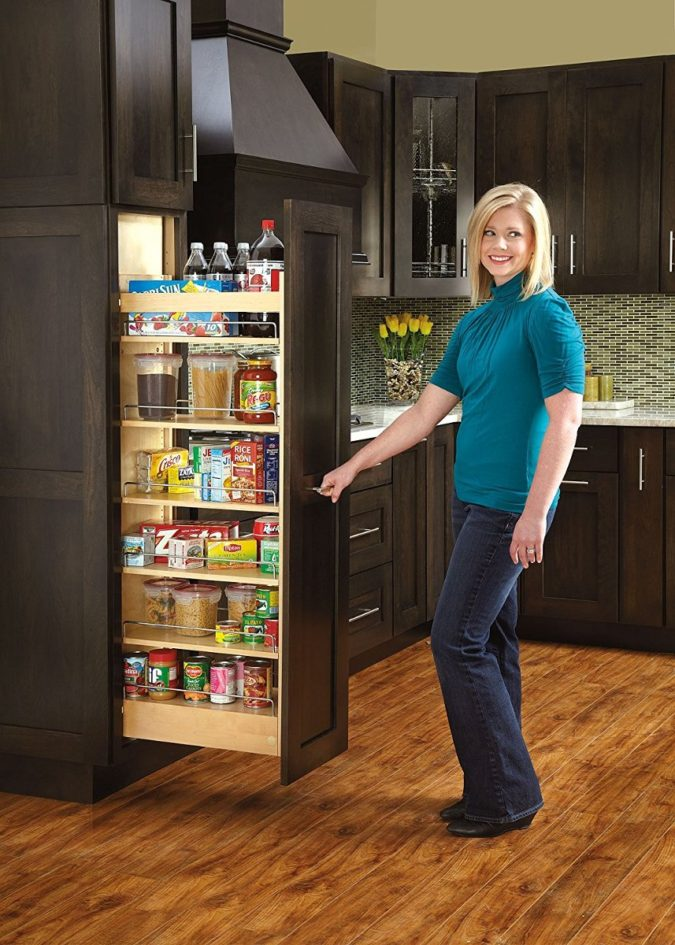 Pull-out-pantry.-675x945 100+ Smartest Storage Ideas for Small Kitchens in 2021