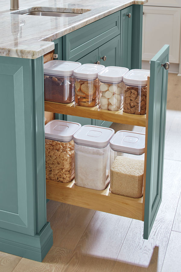 Pull-out-pantry. 100+ Smartest Storage Ideas for Small Kitchens in 2021