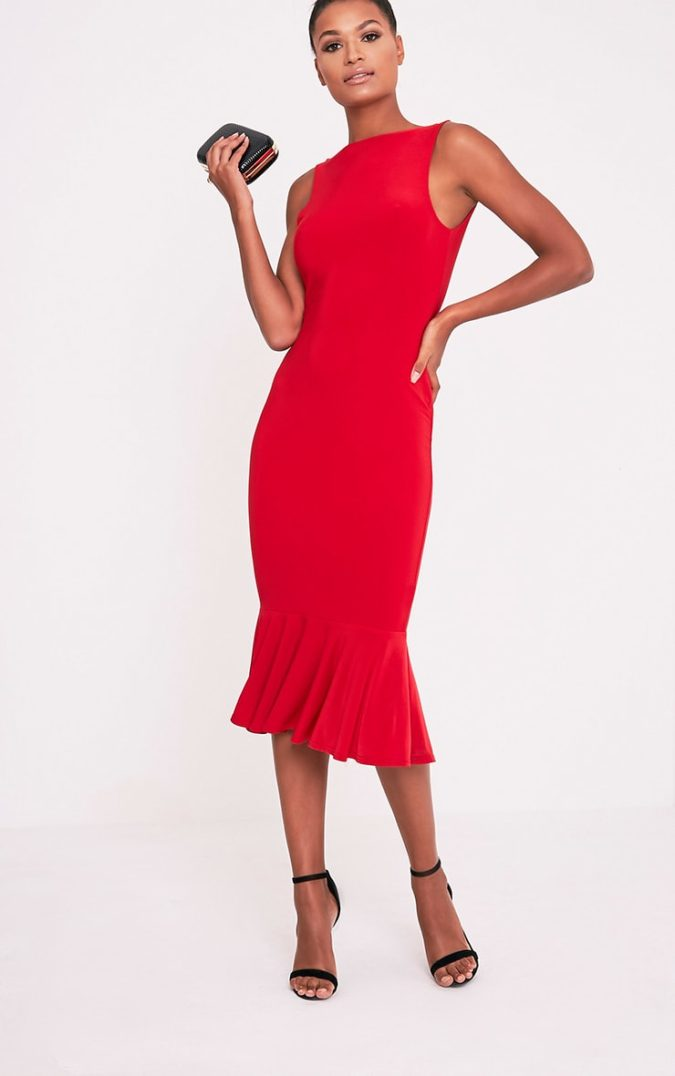 Red-midi-dress-1-675x1076 120 Splendid Women's Outfits for Evening Weddings