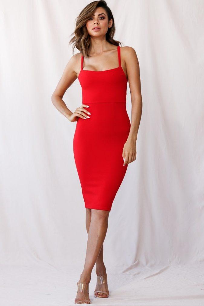 Red-midi-dress.-675x1012 120 Splendid Women's Outfits for Evening Weddings
