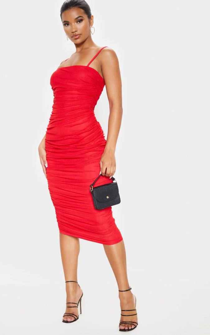 Red-midi-dress.-675x1076 120 Splendid Women's Outfits for Evening Weddings