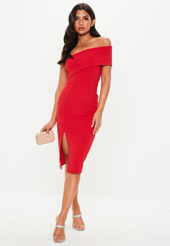 Red-midi-dress..-675x978 120 Splendid Women's Outfits for Evening Weddings