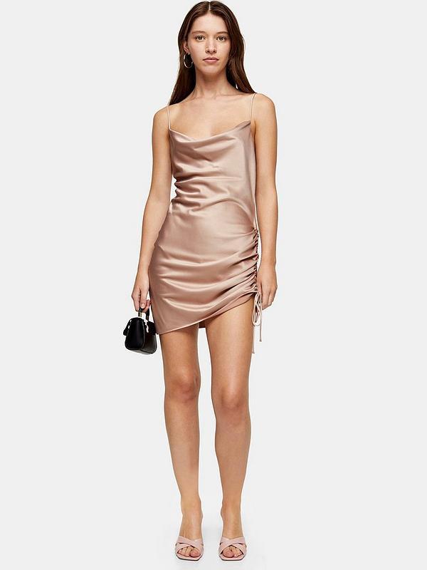 Satin-mini-slip-dress.. 120 Splendid Women's Outfits for Evening Weddings