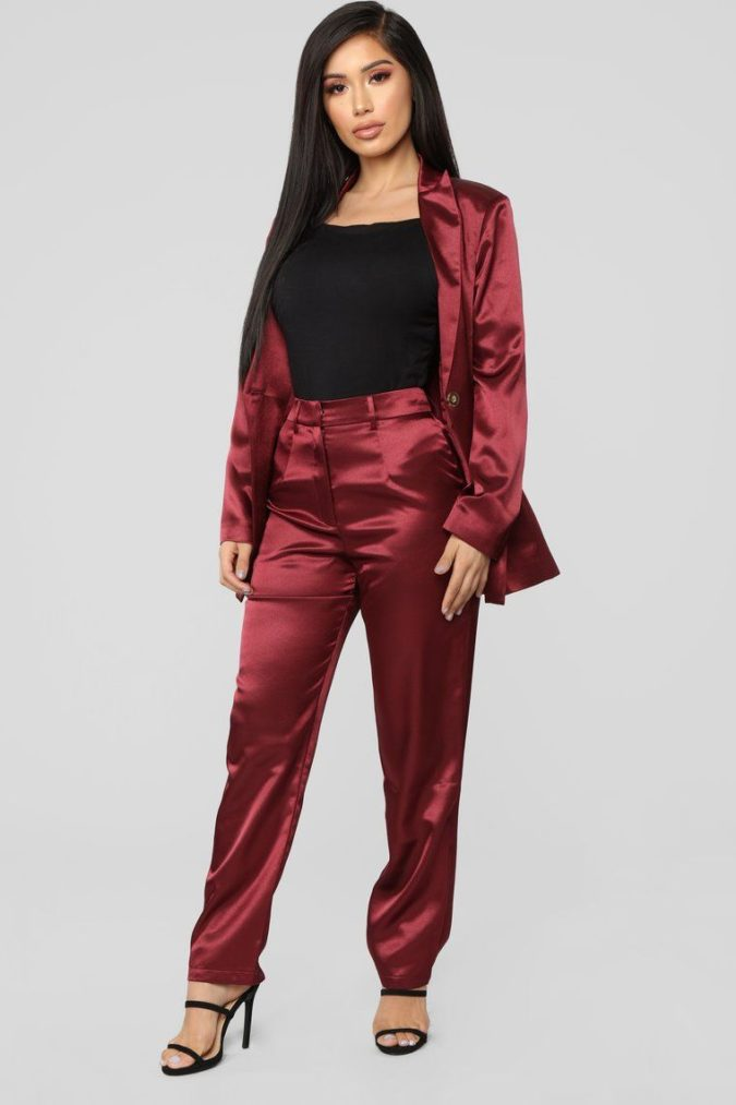 Satin-suit-.-1-675x1013 120+ Breathtaking Birthday Party Outfits for Ladies