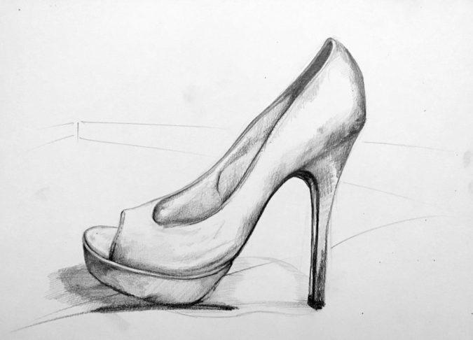 Shoe.-675x486 Top 10 Coolest Unique Drawing Ideas for Teens