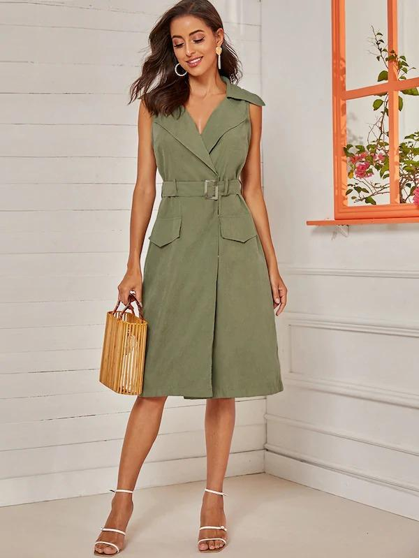 Sleeveless-belted-dress-1 120+ Breathtaking Birthday Party Outfits for Ladies