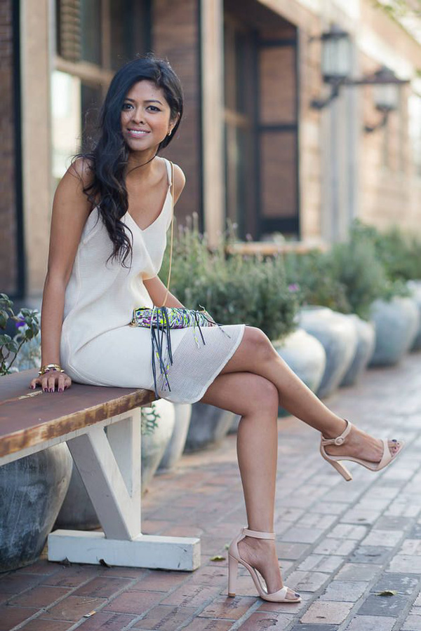 Slip-dress-and-strappy-sandals-1 120+ Breathtaking Birthday Party Outfits for Ladies