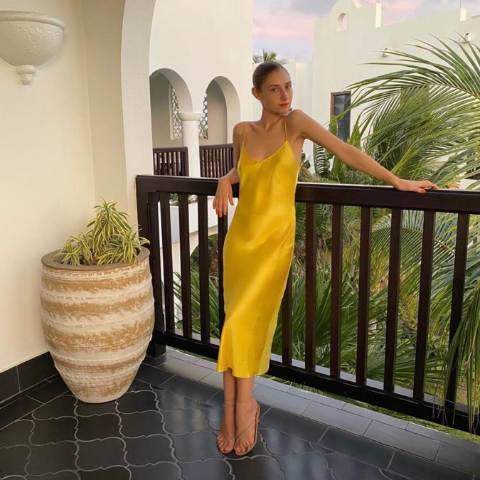 Slip-dress-and-strappy-sandals.-1-675x675 120+ Breathtaking Birthday Party Outfits for Ladies