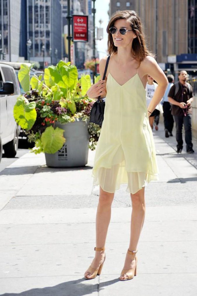 Slip-dress-and-strappy-sandals.-675x1013 120+ Breathtaking Birthday Party Outfits for Ladies