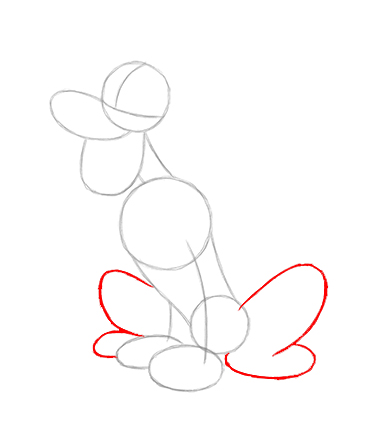Step-6 How to Draw Disney Characters Step By Step