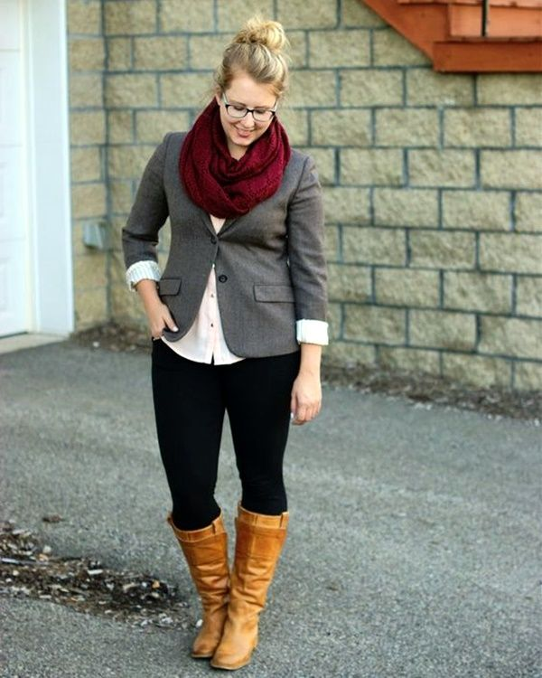Suit-scarves-and-pants 115+ Elegant Work Outfit Ideas for Plus Size Ladies
