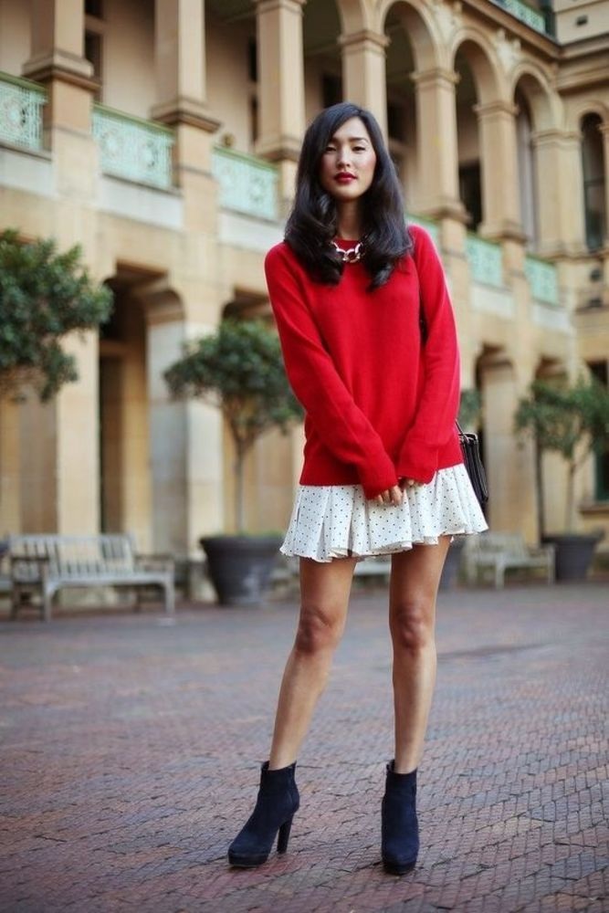 Sweater-with-skirt.-2 140 First-Date Outfit Ideas That Make You Special