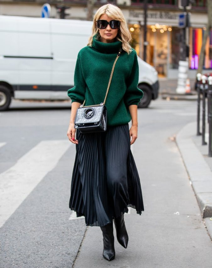 Sweater-with-skirt.-675x854 140 First-Date Outfit Ideas That Make You Special