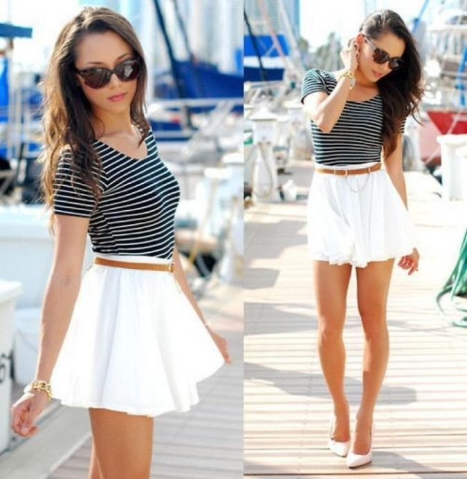 T-shirt-and-miniskirt.-1-675x693 140 First-Date Outfit Ideas That Make You Special