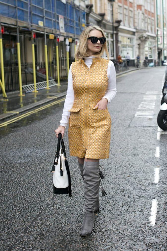 Turtlenecks-under-dress-1-675x1012 140+ Lovely Women's Outfit Ideas for Winter in 2021