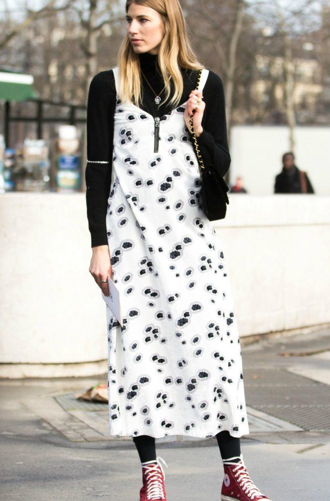 Turtlenecks-under-dresses.-1-675x1024 140+ Lovely Women's Outfit Ideas for Winter in 2021